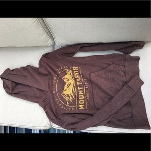 Brown mountain hoodie
